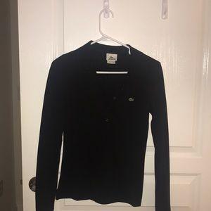 Size 36 women's black Lacoste shirt